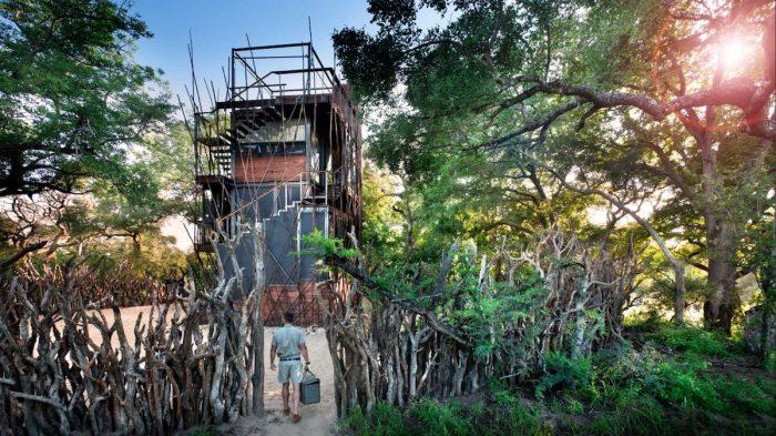 Постояльцам ежедневно доставляется еда из ресторана, расположенного на территории эко-лагеря «Ngala Private Game Reserve». | Фото:  mmymodernmet.com.
