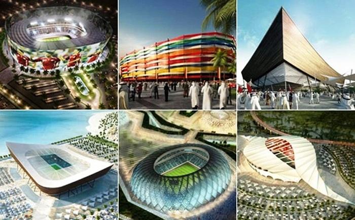 Проекты стадионов, которые будут принимать мундиаль 2022 (Катар). | Фото: elpotosi.net.