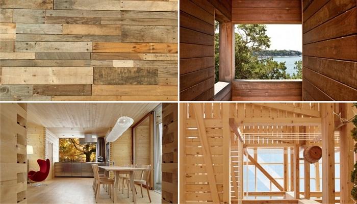 В качестве основного стройматериала будет использоваться натуральное дерево, восстановленное вторсырье и древесные отходы (концепт фонда OAS1S ™). | Фото: hdinterior.ru.