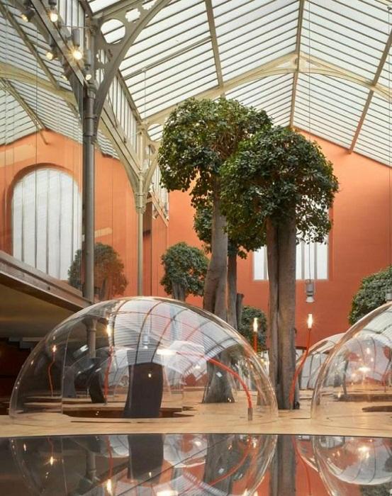 В центре старинного промышленного помещения создали настоящий оазис (Офис компании Pons&Huot, Франция). | Фото: msmeta.com.ua.