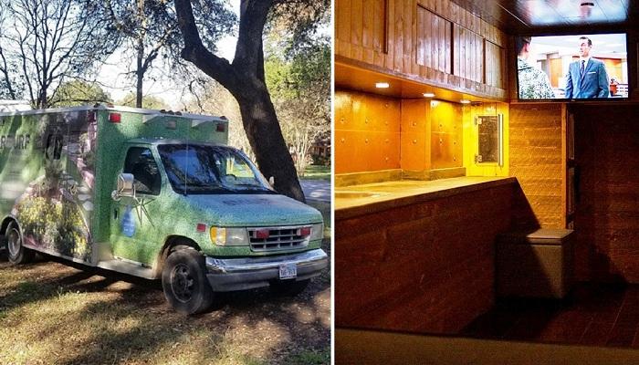 За 4 месяца молодой человек превратил старую машину скорой помощи в уютный домик на колесах. | Фото: porosenka.net.