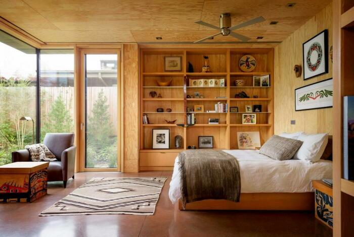Спальная комната в City Cabin (Сиэтл, США). | Фото: mymodernmet.com.