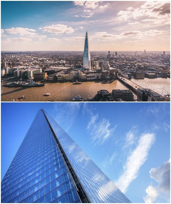 Небоскреб The Shard – культовая достопримечательность Лондона (Великобритания).