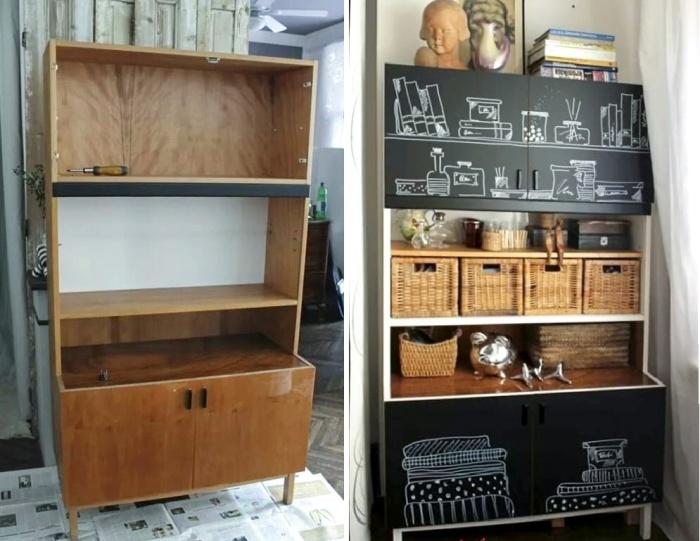 Старый советский шкаф может стать прекрасным украшением современного интерьера, если проявить фантазию. | Фото: design-homes.ru.