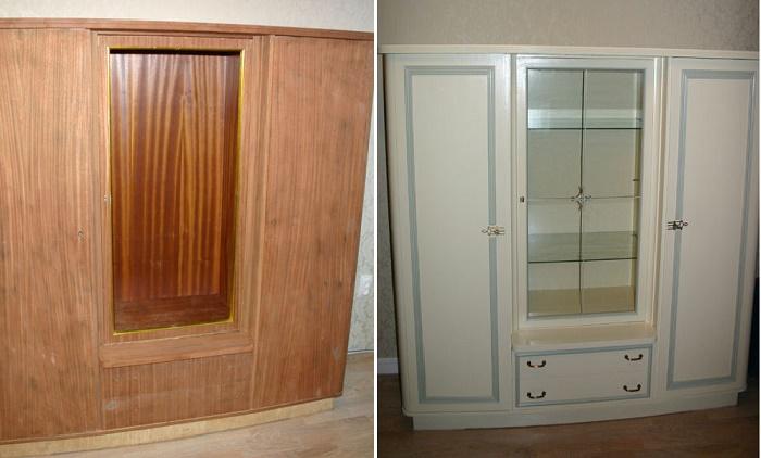 Невзрачный массивный шкаф тоже можно превратить в эффектный предмет интерьера. | Фото: pausadocafe.com.