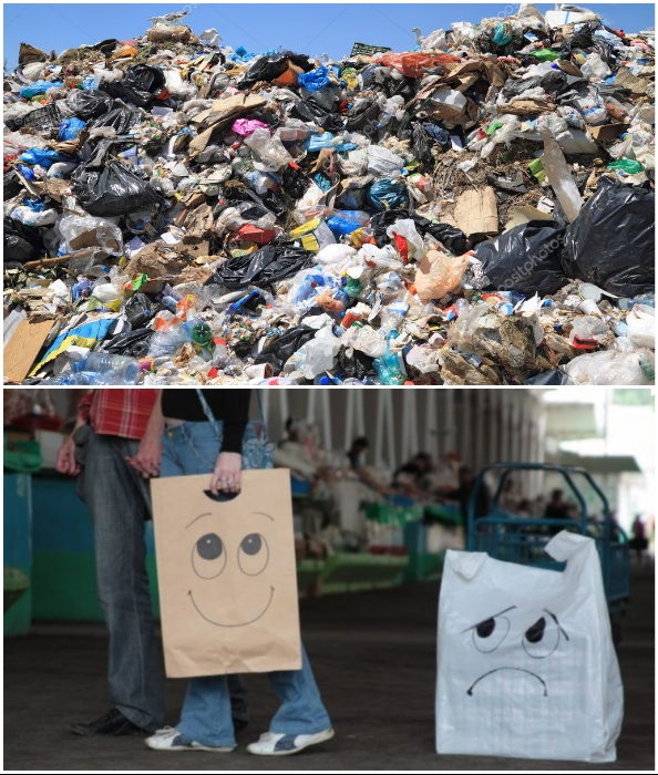 Каждый может помочь сохранить планету, если сведет к минимуму использование пластика/полиэтилена.