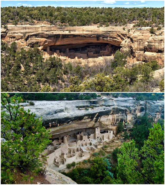 Пещерный жилой комплекс Клифф-Палас был домом для предков индейского народа Пуэбло.