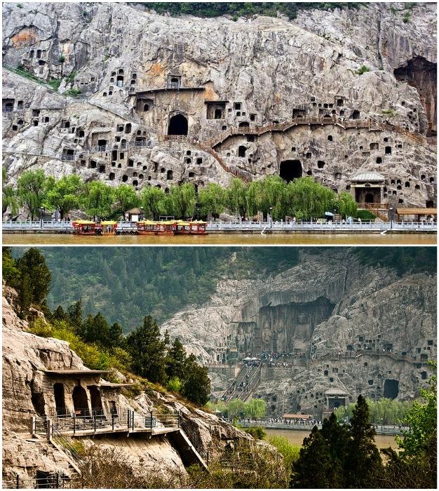 Гроты и ниши храмового комплекса Лунмэнь содержат самую большую и впечатляющую коллекцию китайского искусства (провинция Хэнань Лунмэнь).