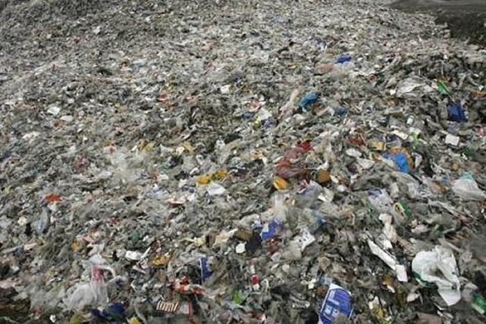 Гигантский остров мусора в Тихом океане.