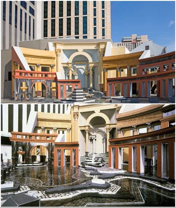 Чарльз Мур использовал очень живописный подход к проектированию городской площади Нового Орлеана (штат Луизиана, США).