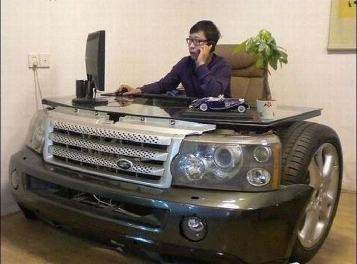 Нет возможности купить машину, приобретите такой стол для начала.