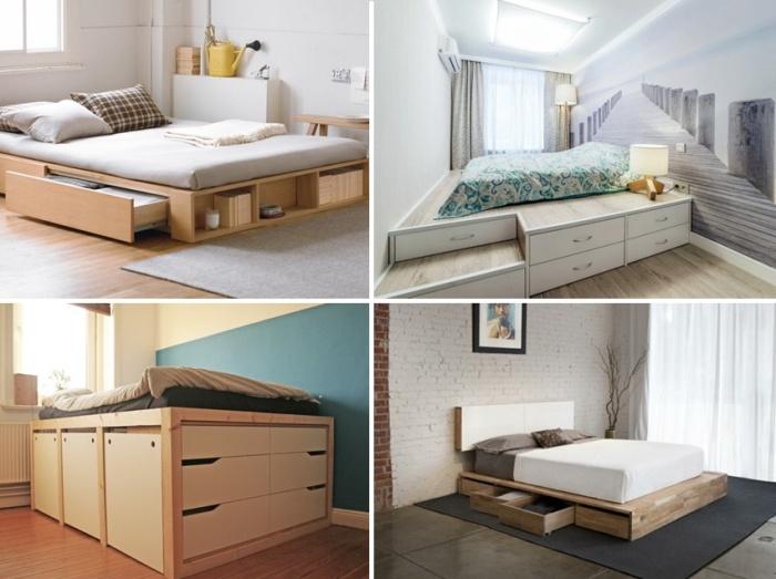 Варианты оформления подиумов в спальне. | Фото: divani.net.ua.
