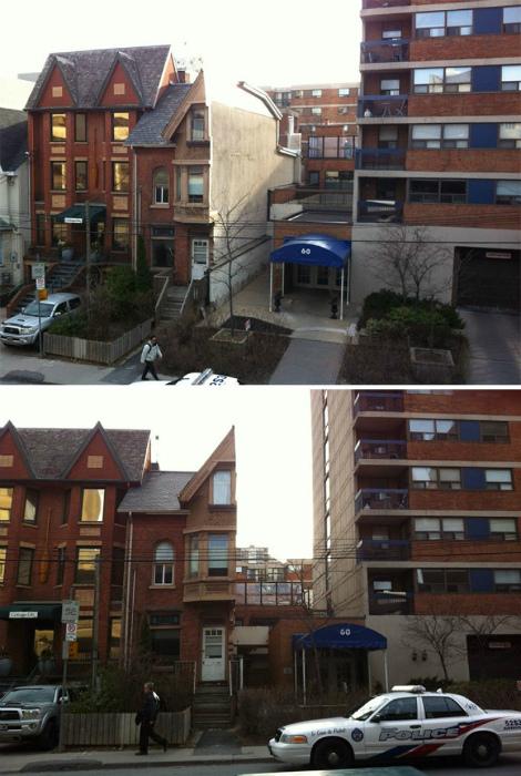 Дуплекс тоже можно разделить, если начнется перепланировка района (Торонто, Канада). | Фото: thescottishsun.co.uk.