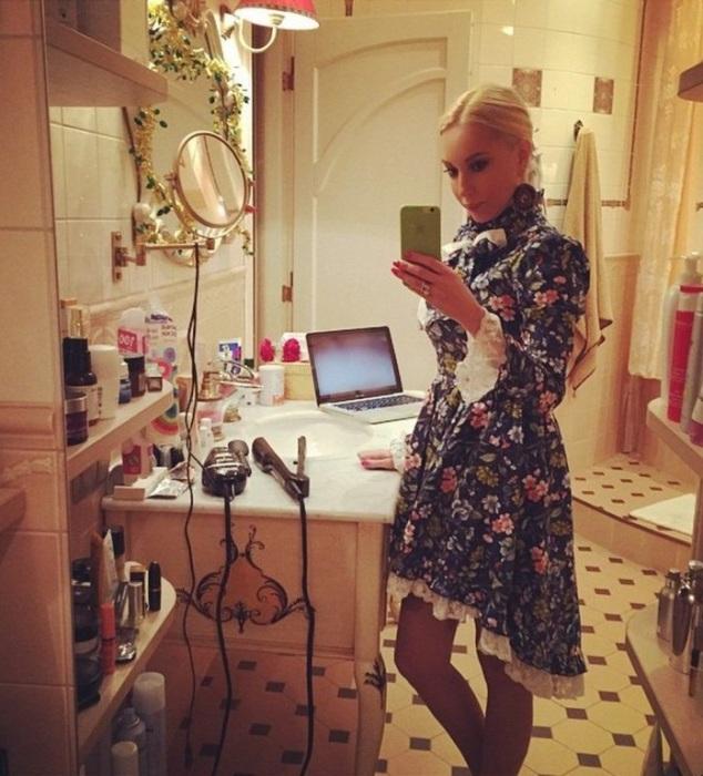 Ванная комната – самое любимое место звезды экрана. | Фото: museblog.ru.