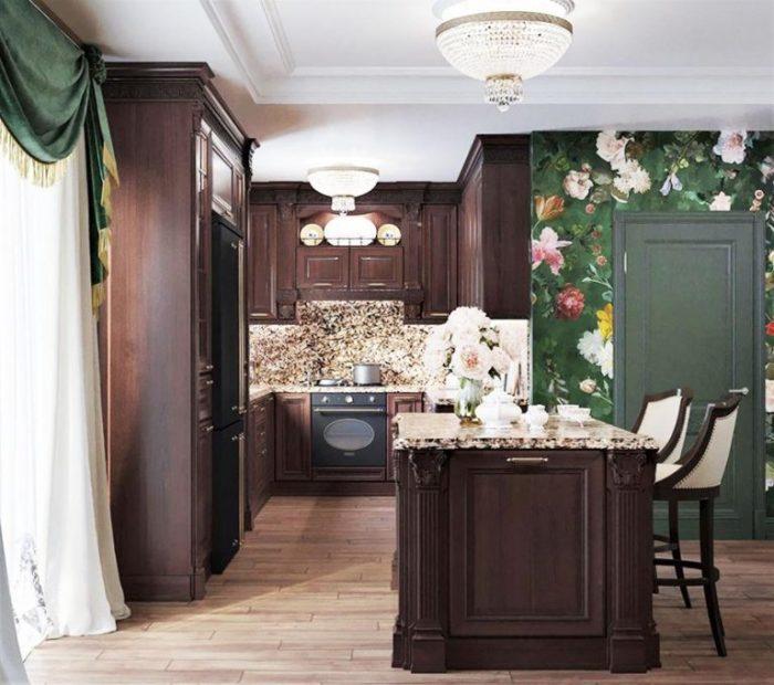 Обновленная кухня загородного особняка Ларисы Гузеевой и Игоря Бухарова. | Фото: remont-samomy.ru.