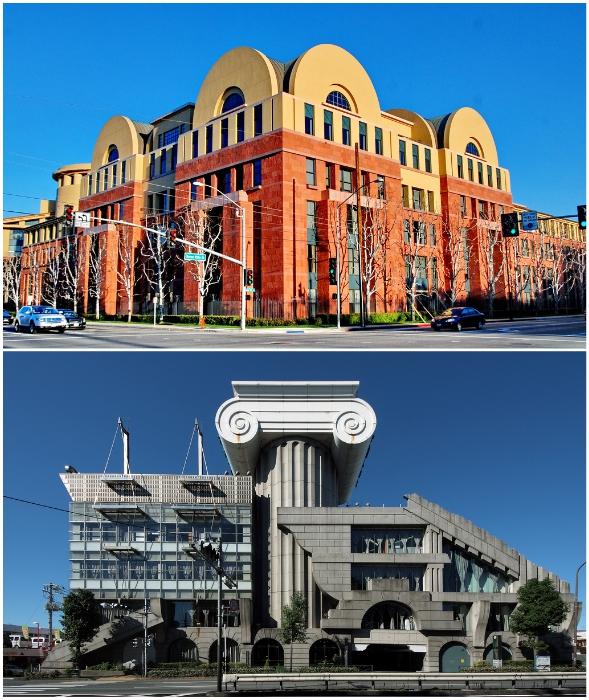 Здания постмодернизма всегда заметны на фоне других построек, хотя многие их и считают странными.