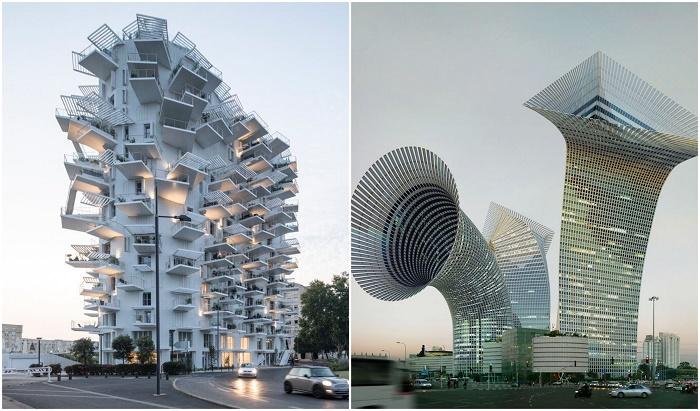 Невообразимые здания последователей постмодернизма.