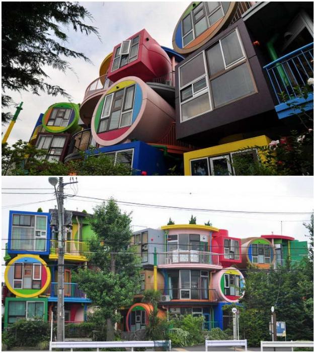 Особенно ярко проявился постмодернизм в жилом строительстве (проект Shusaku Arakawa, Токио).