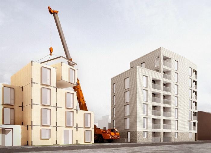 Квартирные модули будут поставляться в готовом виде. | Фото: masterok.livejournal.com.