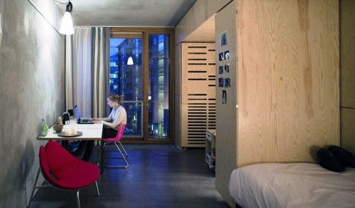 Комнаты для студентов-иностранцев полностью укомплектованы мебелью и всем необходимым (Tietgenkollegiet, Копенгаген). | Фото: tietgenkollegiet.dk.