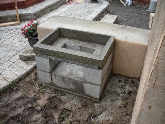 Простейший мангал из газобетона. | Фото: beton-house.com.