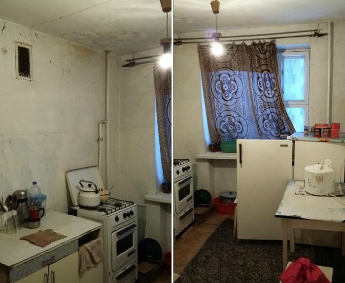 В таком неприглядном виде оказалась кухня. | Фото: moscow-oblast.sm-news.ru.
