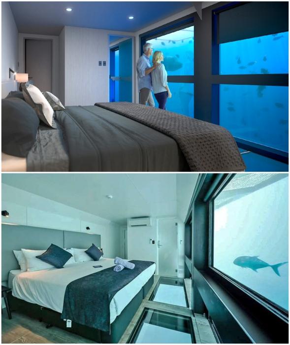 Подводные Люксы в отеле Reefsuites (Квинсленд, Австралия).