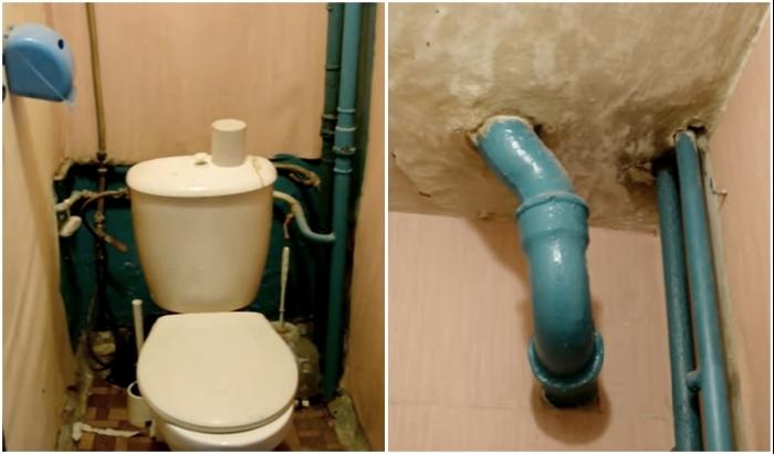 Вот в таком состоянии был туалет после покупки квартиры.
