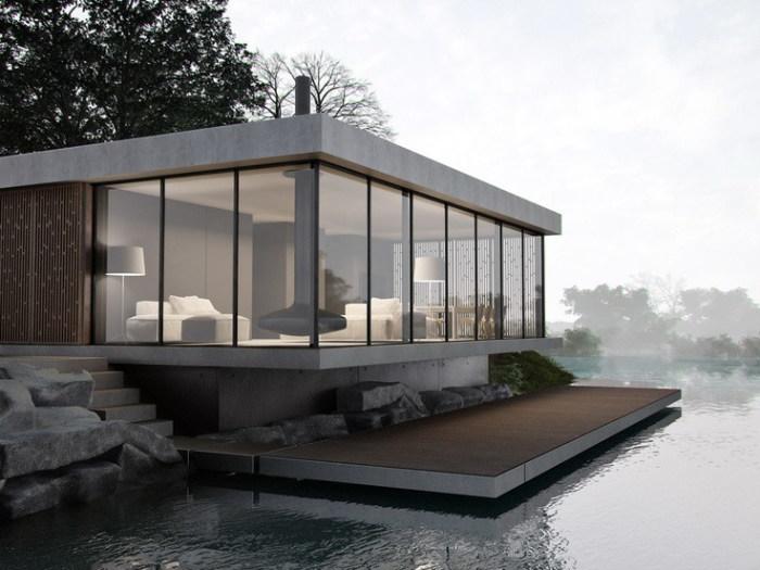 Футуристический дизайн плавучего дома. | Фото: matakonstruksi.com.