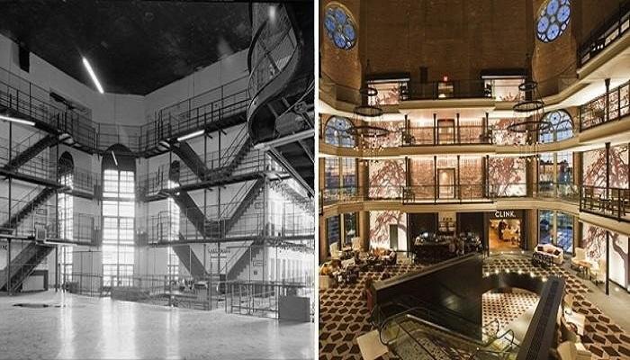 Колорит тюремного интерьера старались не менять, а лишь освежить («Liberty» до и после ремонта, Бостон).   Фото: nashiusa.com.
