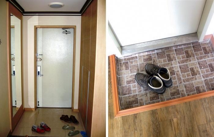 В северокорейских квартирах есть лишь крошечная прихожая, в которой помещается несколько пар обуви. | Фото: realty.tut.by.