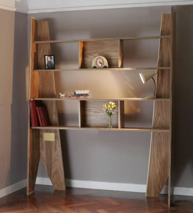 Обычный книжный шкаф можно сделать еще при жизни и использовать его по прямому предназначению. | Фото: boredpanda.com.