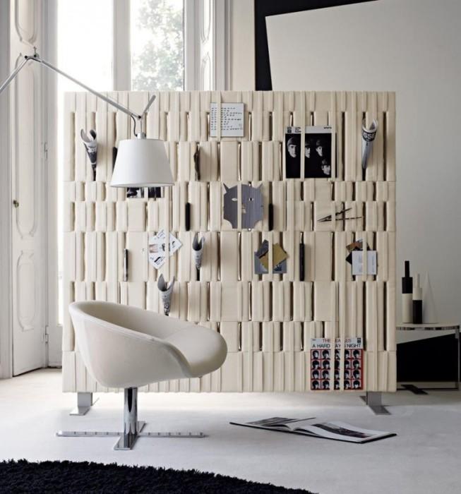 Дизайнерская многофункциональная перегородка. | Фото: legkovmeste.ru.