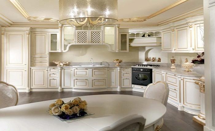 Шкафы до потолка на кухне.