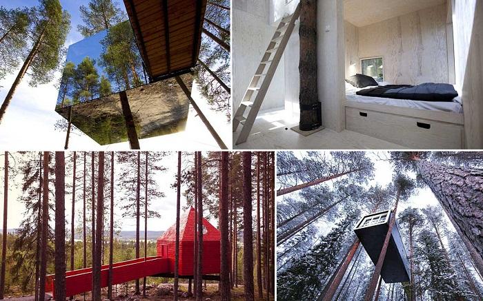 Даже сутки, проведенные в гостиничном комплексе Treehotel – это уже незабываемые приключения (Швеция). | Фото: sergeybond.livejournal.com.