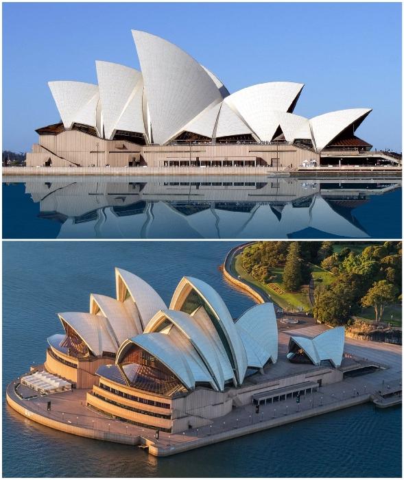 Сиднейский оперный театр – образец современной архитектуры и яркий пример экспрессионизма (архитектор Йорн Утзон, Австралия).