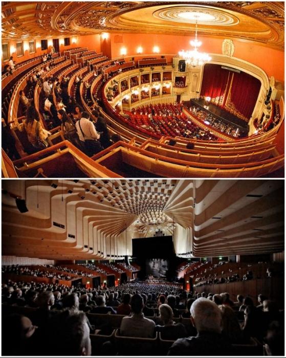 Оперная сцена и Малый зал удивят и оформлением, и звучанием (The Sydney Opera House, Австралия).