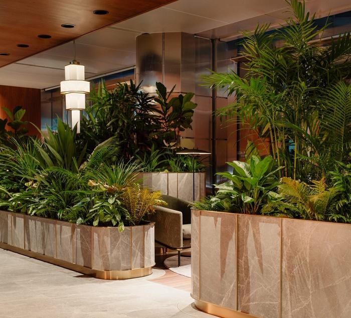 Этаж для обслуживания особо состоятельных клиентов Citigold (Citibank Singapore). | Фото: allcadblocks.com.