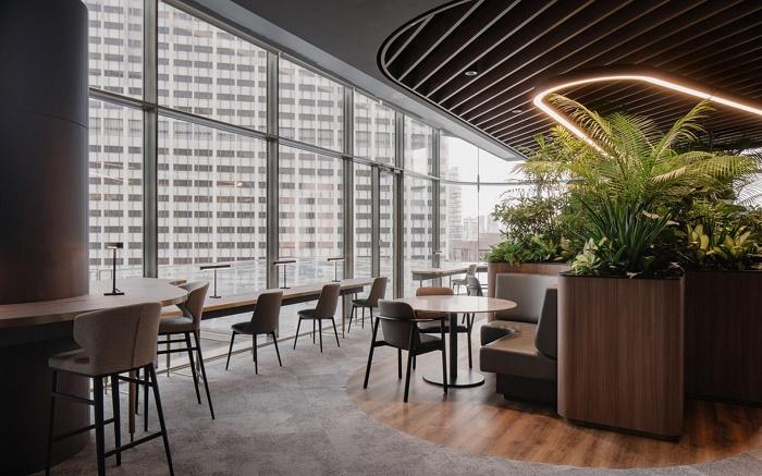 Кафетерий банковского офиса поспособствует особенному расслаблению во время отдыха (Citibank Singapore). | Фото: allcadblocks.com.