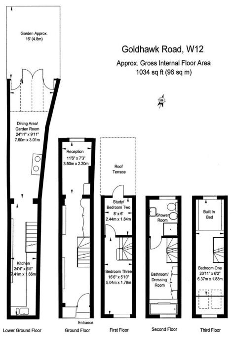 Чтобы представить, как обустроены все 5 этажей, стоит взглянуть на план-чертеж.   Фото: boredpanda.com/ dailymail.co.uk, © Winkworth.