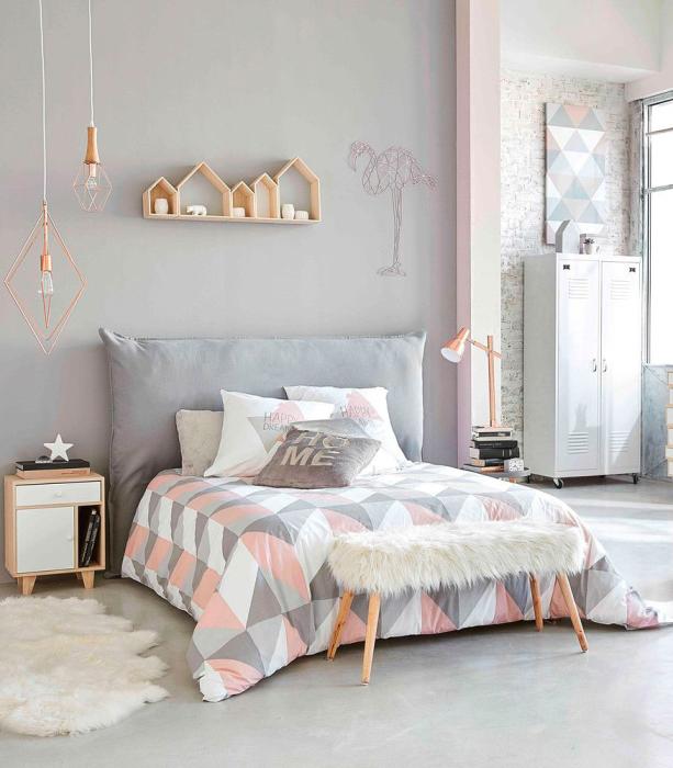 Воодушевляющий дизайн спальной комнаты с правильно подобранной палитрой. | Фото: happymodern.ru.