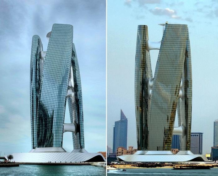 Будет ветер или нет, небоскреб все равно сможет вращаться (концепт Squall Tower). | Фото: yankodesign.com.