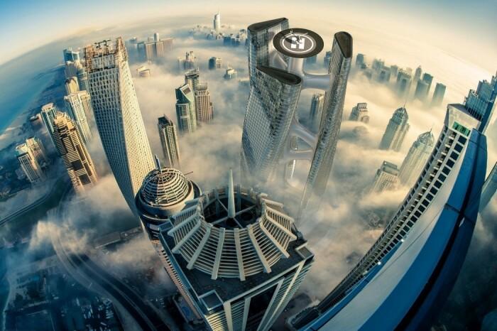 В Дубае может появиться небоскреб в форме турбины, вращающийся вместе с ветром (концепт Squall Tower). | Фото: yankodesign.com.