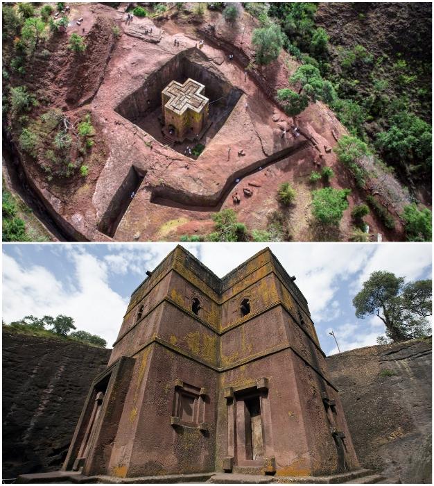 Лалибела – одно из самых священных мест в Эфиопии (Церковь Святого Георгия).