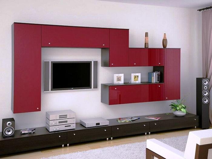 Мебельный гарнитур для большой гостиной.