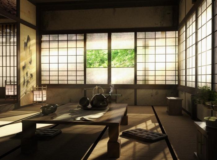 Японский интерьер – полная гармония с мирозданием. | Фото: kasugai.ru.