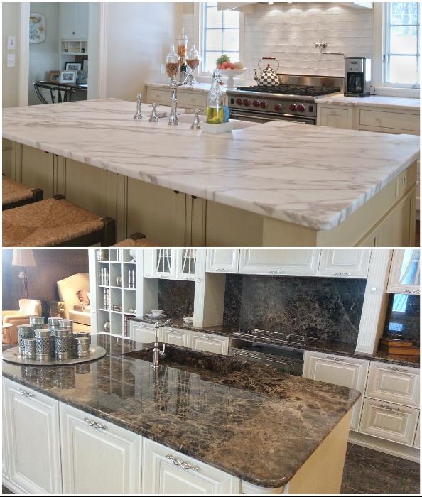 Кухонные поверхности из мрамора – стильно, красиво, но непрактично.