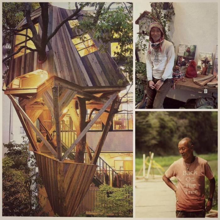 Takashi Kobayashi – уникальный мастер, создающий колоритные домики на дереве (Япония). | Фото: designmadeinjapan.com.
