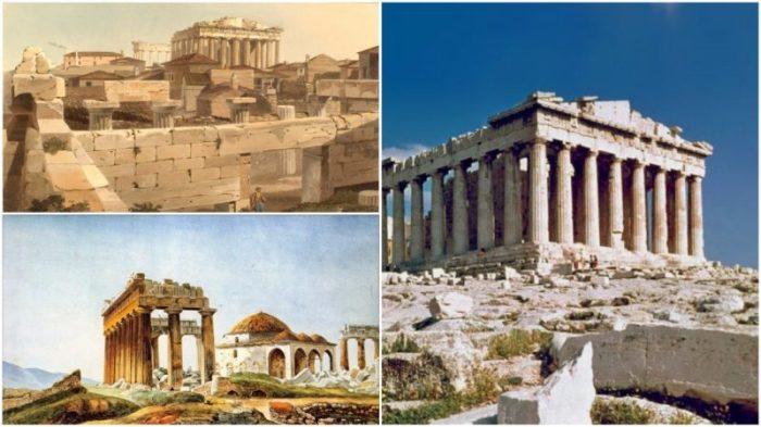 Афинский Акрополь — главная достопримечательность Греции. | Фото: thevintagenews.com.