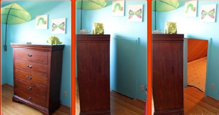 В детской комнате малыша, оказалась скрытая дверь от тайной комнаты.